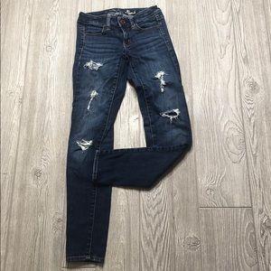 American Eagle Skinny Jeans Jeggins Distressed